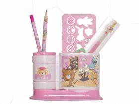 Набор настольный Evo-kids, 5 предметов, розовый