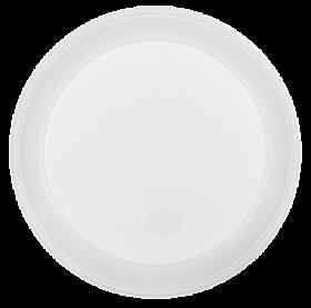 Тарілка одноразова, d-205 мм, біла, 1-секц., 5,5-6 г, 100шт/уп