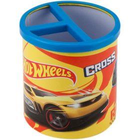 Подставка для ручек металлическая круглая KITE Hot Wheels