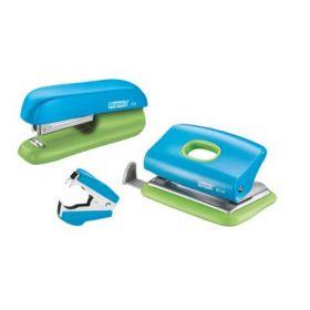Набор Rapid: степлер + дырокол + антистеплер, голубой/зеленый