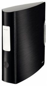 Папка-регистратор Leitz Active Style 180° А4, 82 мм, РР, сатиновый черный