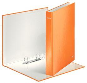 Папка на кольцах Leitz WOW А4+, 40 мм, 2D, оранжевый металлик