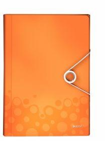 Папка с отделениями Leitz WOW A4, 6 отделений, оранжевый металлик