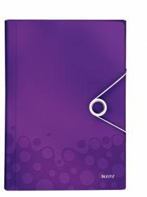 Папка с отделениями Leitz WOW A4, 6 отделений, фиолетовый металлик