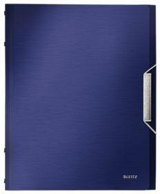 Папка с разделителями Leitz Style А4, 6 индексов, титановый синий
