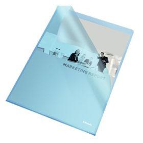 Папка-уголок Esselte Standard А4, 105 мкм, синяя