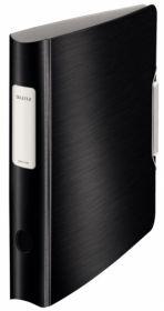 Папка-регистратор Leitz Active Style 180° А4, 65 мм, РР, сатиновый черный