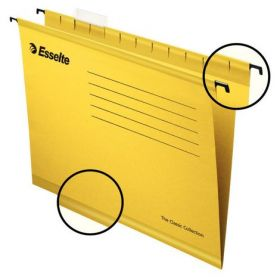 Папка подвесная А4 Esselte Standart, желтая, 25 шт