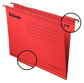 Папка подвесная А4 Esselte Standart, красная, 25 шт