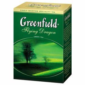 "Чай зеленый FLYING DRAGON , 100г, ""Greenfield "", лист"