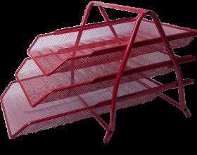 Лоток для бумаг горизонтальный 3в1, красный