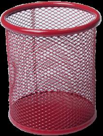 Подставка для ручек металлическая круглая Buromax, красная