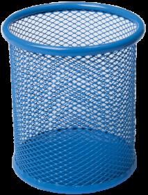 Подставка для ручек металлическая круглая Buromax, синяя