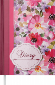 Ежедневник недатированный Buromax Design LAURA, красный, А5