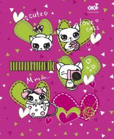 Дневник школьный CUTE CATS, A5+, 40 листов, интегральная обложка