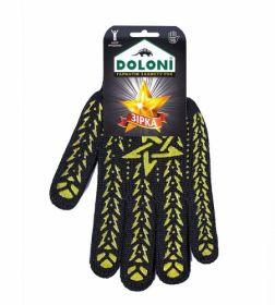 Перчатки трикотажные рабочие Doloni, р.10, черные