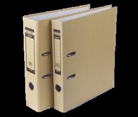 Папка-регистратор Buromax JOBMAX KRAFT А4, 70 мм, коричневый