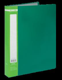 Папка c 40 файлами Buromax А4, зеленая