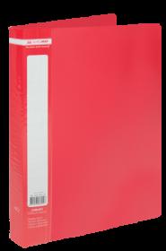 Папка c 40 файлами Buromax А4, красная