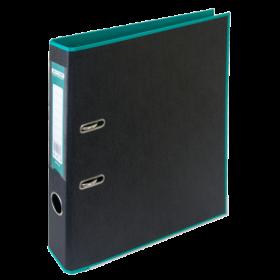Папка-регистратор Buromax STYLE А4, 50 мм, РР, бирюзовый/черный