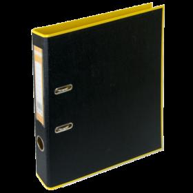 Папка-регистратор Buromax STYLE А4, 50 мм, РР, желтый/черный