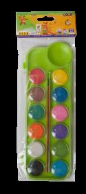 Краски акварельные Zibi KIDS Line, с кистью, 12 цветов