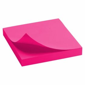 Бумага для заметок Delta 75x75 мм, 100 листов, с клейким слоем, розовая
