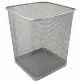 Корзина для бумаг металлическая Axent 15 л, серебряная