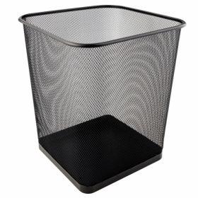 Корзина для бумаг металлическая Axent 15 л, черная