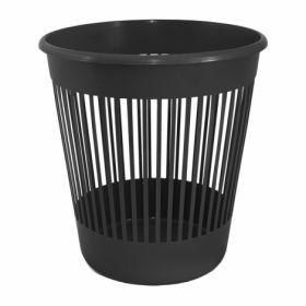 Корзина для бумаг пластиковая Delta 10 л, черная