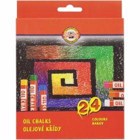 Пастельные мелки масляные Koh-i-Noor, 24 цвета