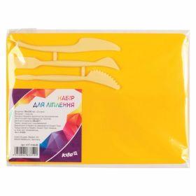 Доска для пластилина KITI 25х18 см, 3 стека, желтая