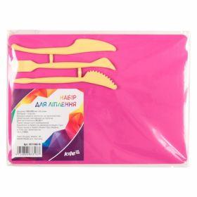 Доска для пластилина KITI, 25х18 см, 3 стека, розовая