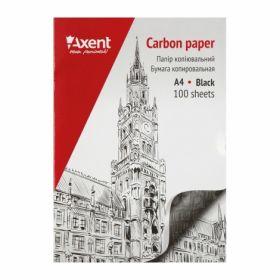 Бумага копировальнаяAxentА4,100 листов,черная
