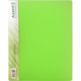 Папка с прижимом Axent A4, 700 мкм, прозрачная зеленая