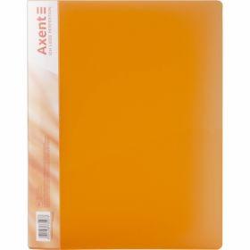 Папка с прижимом Axent A4, 700 мкм, прозрачная оранжевая
