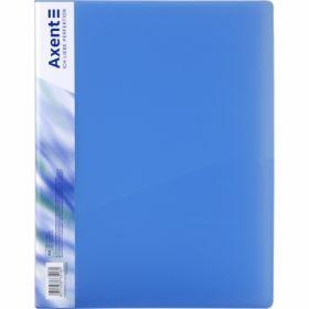 Папка с прижимом Axent A4, 700 мкм, прозрачная синяя