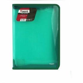 Папка на молнии Axent B5, 550 мкм, прозрачная зеленая