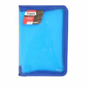 Папка на молнии Axent B5, 550 мкм, прозрачная синяя