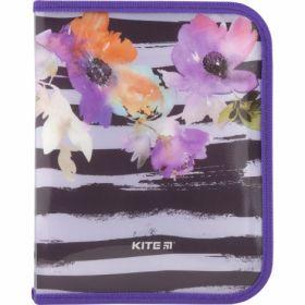 Папка на молнии KITE В5, 500 мкм, Flowers