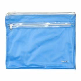 Папка-конверт на молнии Axent А5, 2 отделения, 250 мкм, голубая