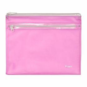 Папка-конверт на молнии Axent А5, 2 отделения, 250 мкм, розовая