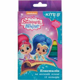 Пластилин восковой KITE Shimmer&Shine, 12 цветов, 200 г