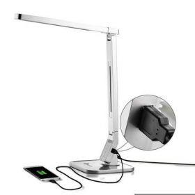 Лампа настольная светодиодная TT-DL07, 15 Вт, серебристая (распродажа)