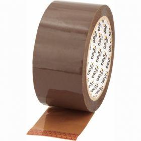 Скотч упаковочный 48 мм х 91 м, коричневый, 6шт