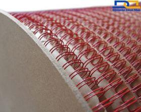 Металлическая пружина в бобине 12.7 мм, 25 000 петель, 3:1 красная