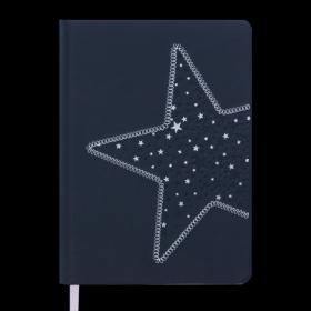 Ежедневник датированный 2019 Buromax Design STELLA, черный, A5