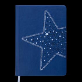 Ежедневник датированный 2019 Buromax Design STELLA, синий, A5