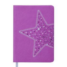 Ежедневник датированный 2019 Buromax Design STELLA, фиолетовый, A6