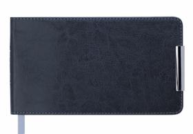 Еженедельник датированный 2019 Buromax Карманный SALERNO, серый, 9.5х17 см